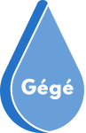 Le distributeur de gel hydroalcoolique Logo